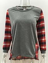 economico -T-shirt Per donna Essenziale A quadri