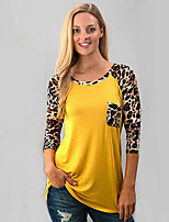 cheap -Women's Basic T-shirt - Leopard