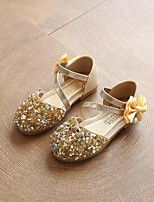 cheap -Girls' Shoes PU Spring / Summer Comfort Sandals Bowknot Sequin for Outdoor Gold Silver Pink