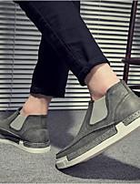 abordables -Homme Chaussures PU de microfibre synthétique Automne Confort Mocassins et Chaussons+D6148 Noir / Gris / Marron