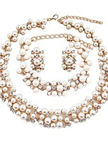 cheap -Women's Jewelry Set - Imitation Pearl, Gold Plated Classic, Fashion, Oversized Include Chain Bracelet / Hoop Earrings / Choker Necklace