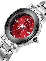 baratos -Homens Relógio Elegante Chinês Cronógrafo / Criativo / Mostrador Grande Aço Inoxidável Banda Luxo Prata