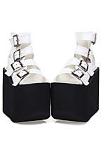 abordables -Chaussures Gothique Punk Gothique Punk Creepers Chaussures Couleur Pleine 14cm CM Blanc Noir Rose Pour PU