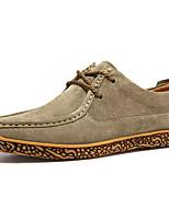 Недорогие -Муж. обувь Бархатистая отделка Осень Удобная обувь Туфли на шнуровке Синий / Винный / Хаки