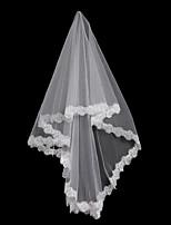 economico -1 strato Floreale / Maglia / Abito trasformabile Veli da sposa Velo lungo (a terra) Con Frangia / A fantasia 59,06 in (150cm) POLY / Tulle