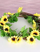 Недорогие -Искусственные Цветы 1 Филиал Деревня Подсолнухи Цветы на стену