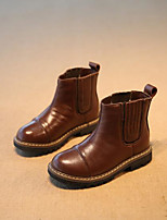 cheap -Girls' Shoes Leather Fall & Winter Combat Boots Boots Gore for Black / Brown