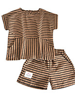 cheap -Kids Boys' Striped Short Sleeve Clothing Set