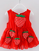 abordables -Bébé Fille Fruit Sans Manches Robe