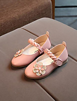 cheap -Girls' Shoes PU Spring Comfort Sandals Flower for Outdoor Beige Yellow Pink