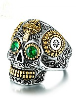 cheap -Cubic Zirconia Band Ring - Skull Vintage 8 / 9 / 10 Green For Party / Gift
