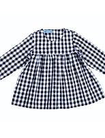 abordables -Bébé Fille Noir & Blanc Damier Manches 3/4 Robe