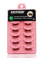 cheap -Eye 1 Natural / Curly Daily Makeup Full Strip Lashes / Thick Make Up Professional / Portable Professional Daily / Professional 1cm-1.5cm