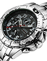 cheap -Men's Quartz Sport Watch Calendar / date / day Casual Watch Stainless Steel Band Luxury Cool Black Silver Gold