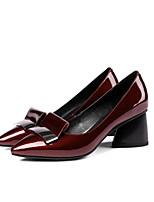 abordables -Femme Chaussures Cuir Nappa Printemps été Confort Chaussures à Talons Talon hétérotypique Noir / Vin / Soirée & Evénement