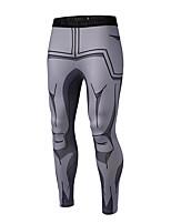 abordables -Homme Collants de Course - Gris Des sports Dessin Animé 3D Collants / Leggings / Bas Tenues de Sport Respirabilité Haute élasticité