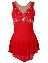 cheap -Figure Skating Dress Women's Ice Skating Dress Red / Royal Blue / Dark Navy strenchy Performance / Practise Skating Wear Quick Dry,