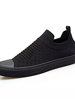cheap -Men's Shoes Fabric / PU Spring / Fall Comfort Sneakers Black / White / Black / Red