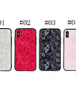 economico -Custodia Per Apple iPhone X Glitterato Per retro Glitterato Resistente Vetro temperato per iPhone X