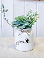abordables -Fleurs artificielles 1 Une succursale Rustique Plantes succulentes Fleur de Table