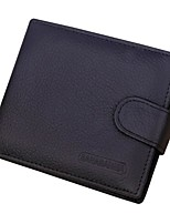cheap -Men's Bags Genuine Leather Wallet Buttons for Shopping / Formal Black / Coffee