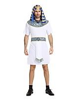 abordables -Disfraces Egipcios Accesorios Hombre Halloween / Carnaval / Dia de los Muertos Festival / Celebración Disfraces de Halloween Blanco Un