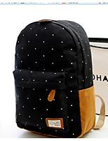 cheap -Unisex Bags Canvas Backpack Pattern / Print Dark Blue / Fuchsia / Sky Blue