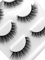 Недорогие -Глаза 1 Натуральный / Кудрявый Повседневный макияж Ленточные накладные ресницы / Длиннее на конце Макияж Профессиональный / Переносной