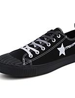 cheap -Men's Shoes Canvas Summer Vulcanized Shoes / Driving Shoes Sneakers White / Black