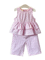 cheap -Kids Toddler Girls' Floral Sleeveless Clothing Set