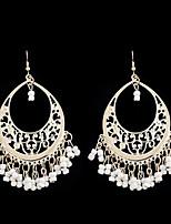 cheap -Women's Drop Earrings / Hoop Earrings - Tassel, Oversized Black / Red / Blue For Party / Daily