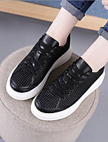 cheap -Women's Shoes Tulle Summer Comfort Sneakers Flat Heel for Casual White Black Pink