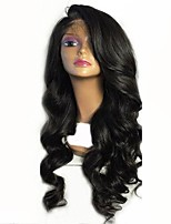 cheap -Virgin Human Hair Wig Malaysian Hair Wavy Layered Haircut 130% Density With Baby Hair For Black Women Black Short Long Mid Length Women's