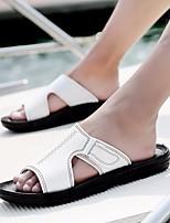 cheap -Men's Shoes PU Summer Comfort Slippers & Flip-Flops White Black Brown