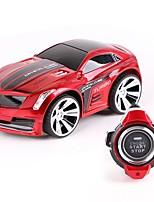Недорогие -Машинка на радиоуправлении R101 2.4G Автомобиль 1:28 Коллекторный электромотор КМ / Ч