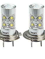 cheap -SENCART 2pcs H7 Car / Motorcycle Light Bulbs 50W SMD LED 3100lm 10 LED Fog Light For universal All years