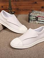 Недорогие -Муж. обувь Кожа Лето Удобная обувь Мокасины и Свитер Белый / Черный