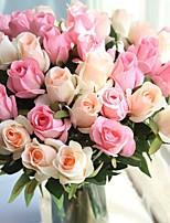abordables -Fleurs artificielles 5 Une succursale Fleurs de mariage / Style Simple Roses Fleur de Table