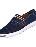 Недорогие -Муж. обувь Тюль Лето Удобная обувь Мокасины и Свитер Серый / Синий