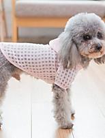 baratos -Cachorros / Gatos Casacos / Camisola com Capuz Roupas para Cães Xadrez Verde / Rosa claro Terylene Ocasiões Especiais Para animais de