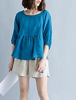 abordables -Tee-shirt Femme, Couleur Pleine Sortie