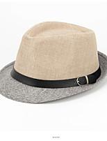 cheap -Men's Vintage Holiday Polyester Beret Hat Bucket Hat - Color Block Tassel