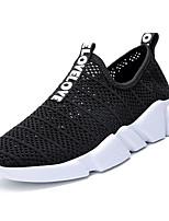 Недорогие -Муж. обувь Тюль Лето Удобная обувь Мокасины и Свитер для Повседневные Черный