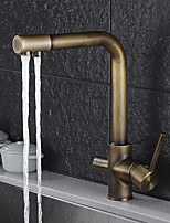 cheap -Kitchen faucet - Standing Style Antique Brass Standard Spout Vessel