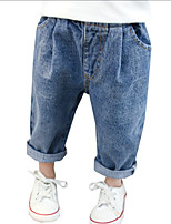 cheap -Kids Girls' Solid Colored Jeans