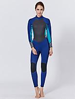 cheap -Women's Full Wetsuit 2mm CR Neoprene Diving Suit Long Sleeve Solid Colored / Back Zipper Summer