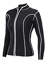 cheap -Women's Wetsuit Top 2mm / Thick Neoprene Diving Suit / Top Long Sleeve - Snorkeling / Surfing / Diving Solid Colored Winter