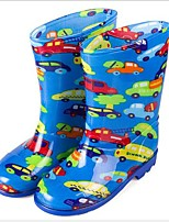 cheap -Girls' Shoes PVC Leather Spring & Summer Rain Boots Boots for Blue / Pink