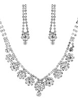 cheap -Women's Cubic Zirconia Jewelry Set - Drop Classic, Vintage, Elegant Include Drop Earrings / Choker Necklace / Bridal Jewelry Sets Silver For Wedding / Party / Engagement