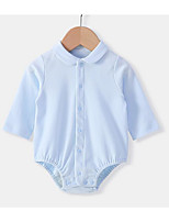 cheap -Baby Unisex Solid Colored Long Sleeves Romper